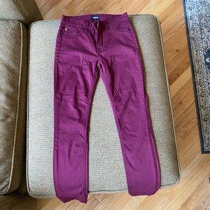 Hudson nico midrise ankle super skinny pant 24